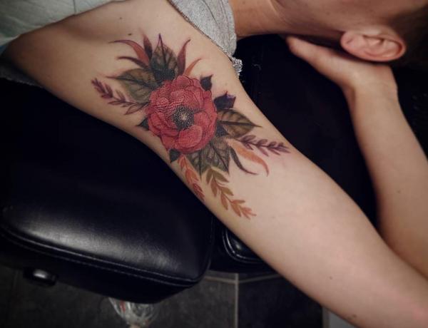 tatouage aisselle