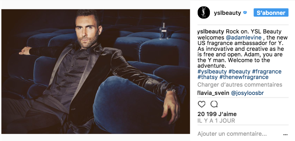 adam levine yves saint laurent